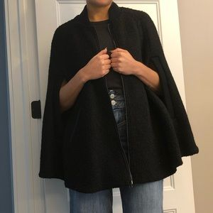 Forever21 black cape jacket size small